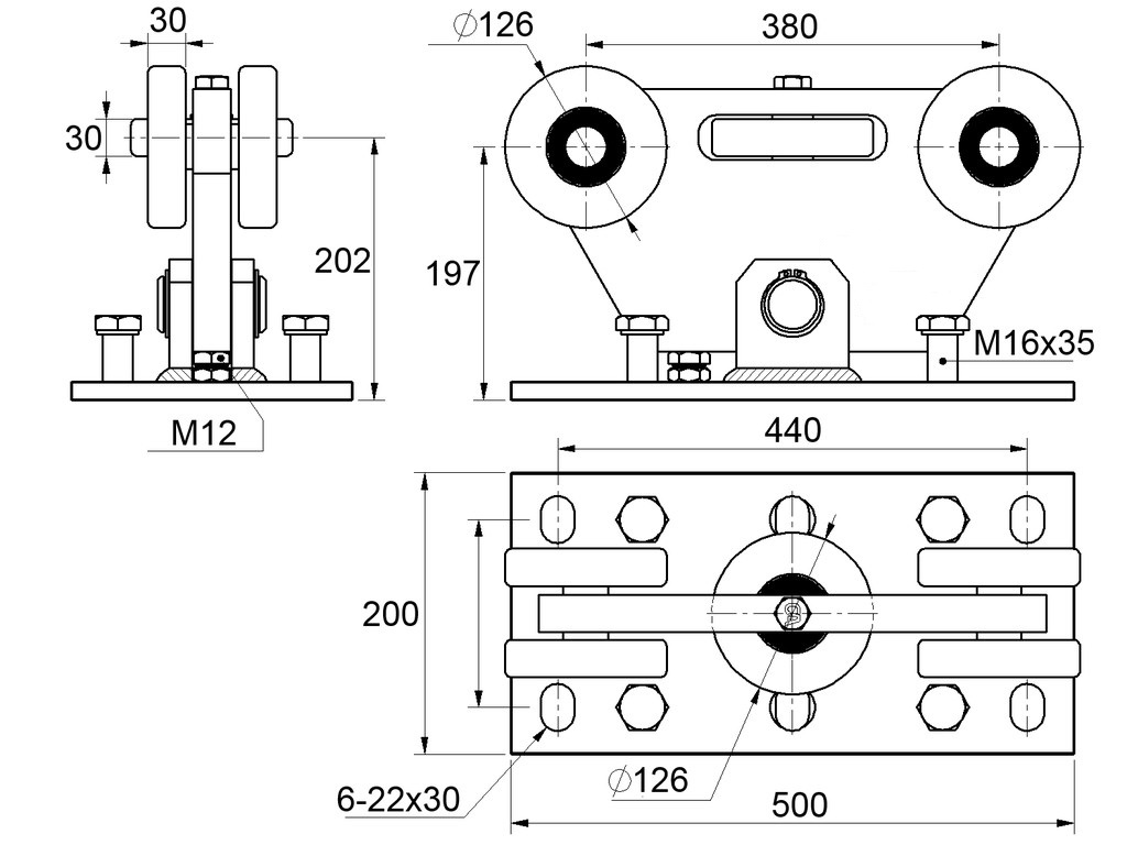 Nákres vozíku c395-3g