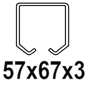 Pre C-profil 57x67x3