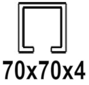 Pre C-profil 70x70x4