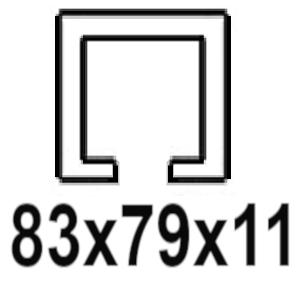 Pre C-profil 83x79x11