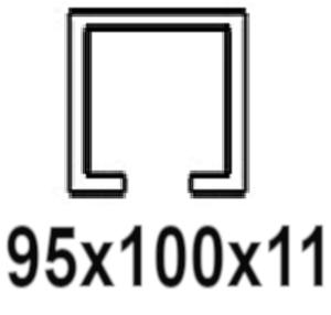 Pre C-profil 95x100x11