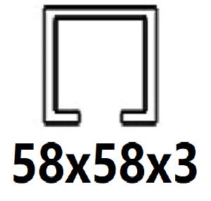 Pre C-profil 58x58x3