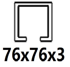 Pre C-profil 76x76x3