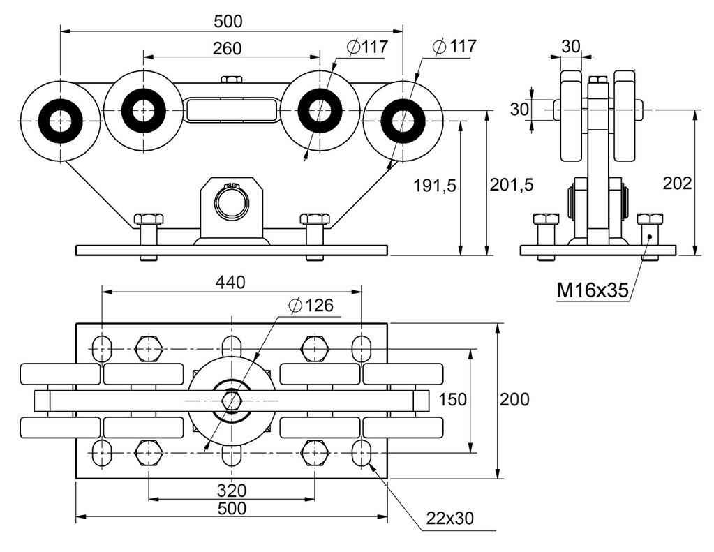 Nákres vozíku c9999-3g