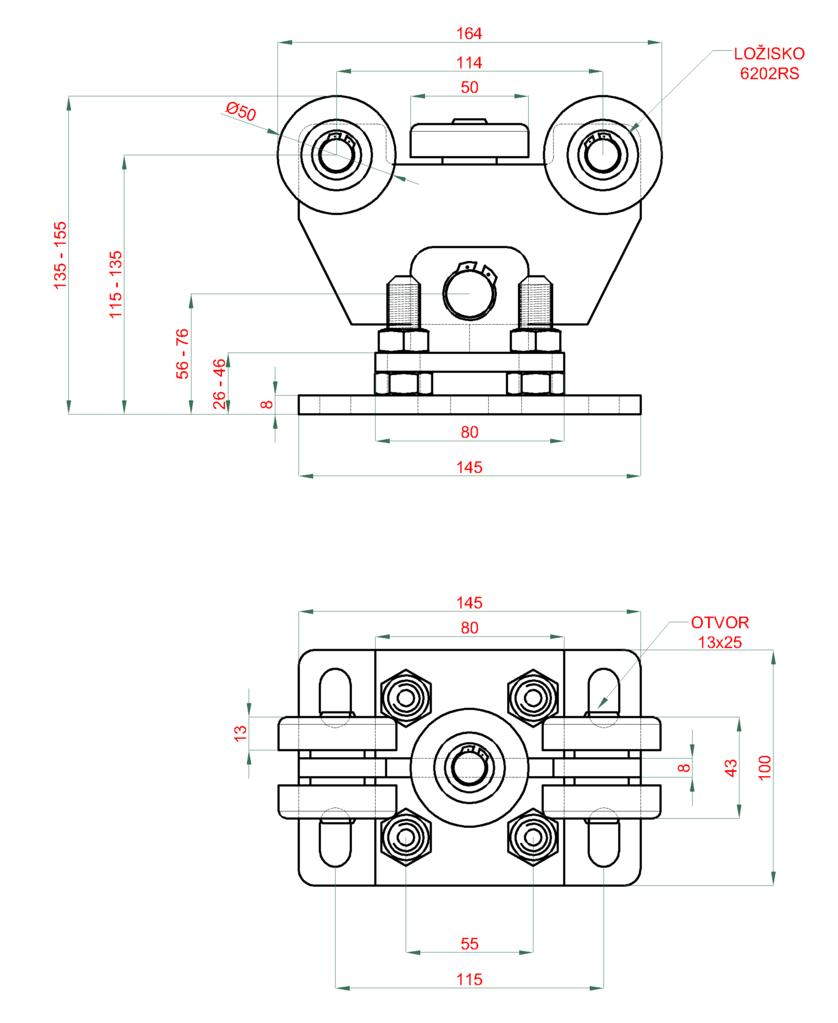 Nákres vozíku v-02-12