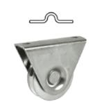 Kolieska pre koľajovú posuvnú bránu tvar U
