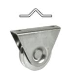Kolieska pre koľajovú posuvnú bránu tvar V