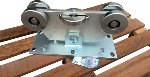 Vozík pre C-profil 140x140x6 pre posuvnú bránu