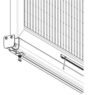 Vnútorný nájazd C-profilu pre samonosné posuvné brány