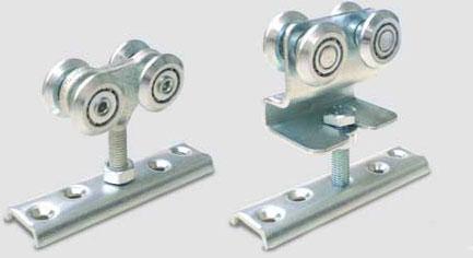 Ukážka použitia montážnej podložky pod vozík závesnej brány