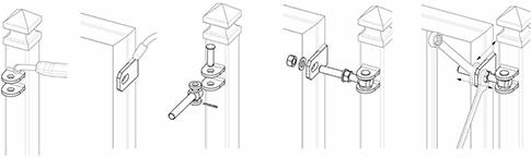 Použitie Reguľovateľný pánt na privarenie pre otváranie do 180°