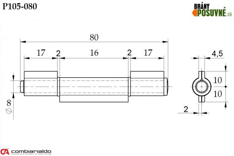 Rozmer pántu P105-080