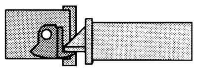 Pôdorys jazýčku zámku zapadnutého v elektrozámku