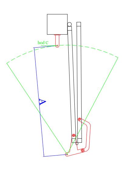 Montáž skladacieho mechanizmu krok 2