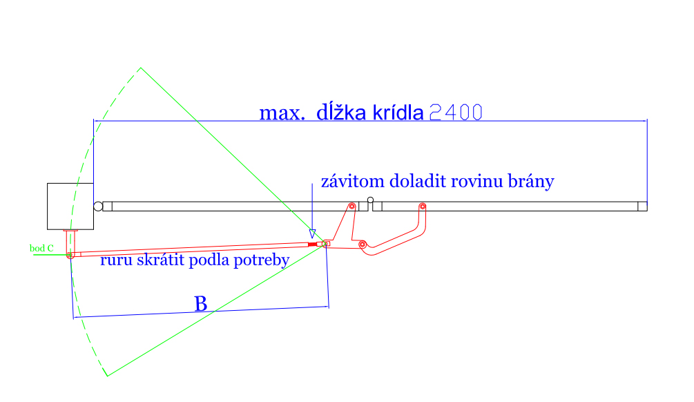 Montáž skladacieho mechanizmu krok 3