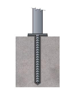 Ukotvenie stĺpiku do múriku na chemickú maltu