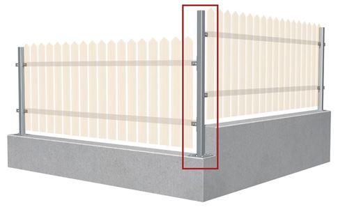 Koncový/rohový holý plotový stĺpik