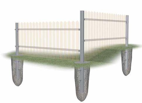 Holý plotový stĺpik
