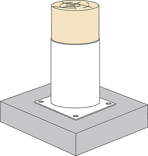Použitie kruhovej kotviacej konzoly