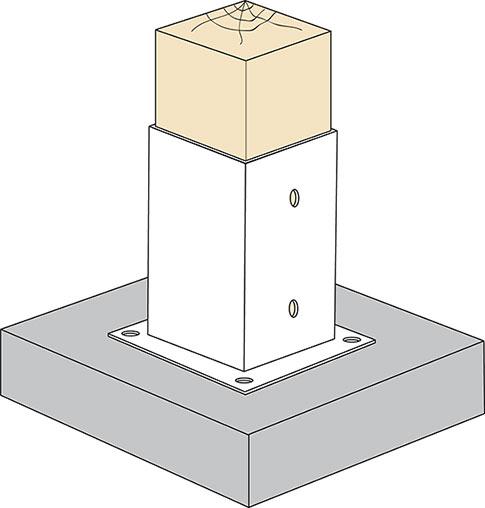 Použitie štvorcovej kotviacej konzoly