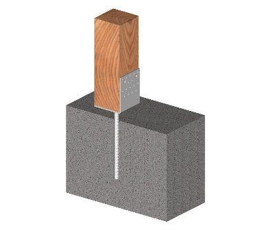 Ukážka použitia kotviacej pätky tvaru L 60mm s roxorom
