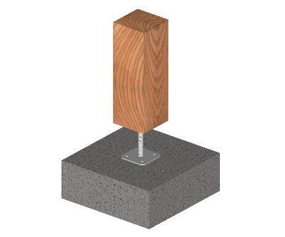 Ukážka použitia pilierovej pätky s pevnou hornou platňou