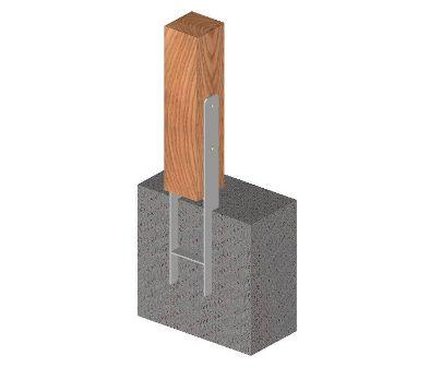 Ukážka použitia statického kotviaceho prvku tvaru HH