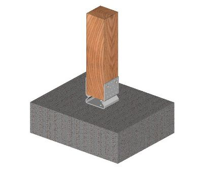 Ukážka použitia statického kotviaceho prvku tvaru U s prelisom