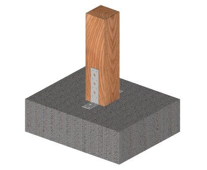 Ukážka použitia statického uholníku s otvormi bez výstuže nepravidelného 40mm