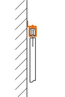 Bočné uchytenie C-profilu závesnej brány na stenu, alebo stĺp