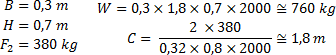 Príklad výpočtu váhy a dĺžky betónového základu posuvnej brány