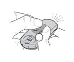1. Stlačte naraz dve tlačidlá a držte, než začne dióda blikať rýchlejšie.