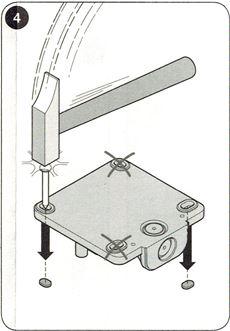 3. Vyrazte diery potrebné pre montáž
