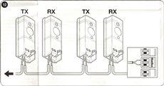 9. Zapojte kabeláž fotobuniek (samozrejme predtým odpojte prívod elektrickej energie)