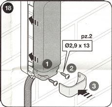 13. Nasaďte kryt fotobuniek, dotiahnite skrutky a nasaďte záslepku