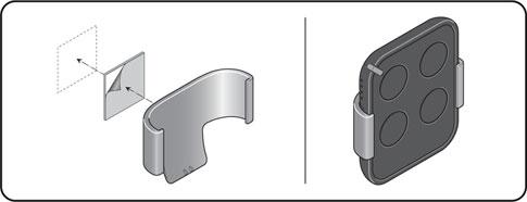 Montáž držiaku na diaľkový ovládač pohonu NICE Era Flor FLO2RE