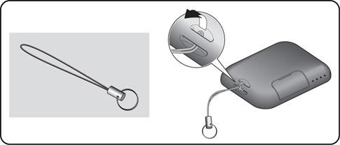 Uchytenie lanka na kľúče na diaľkový ovládač pohonu NICE Era Flor FLO2RE