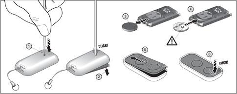 Výmena batérie u ovládaču NICE ERA INTI2