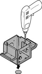 Navŕtanie montážnych otvorov majáku NICE Era Light EL/ELB/EL24