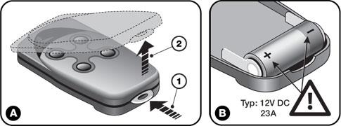 Výmena batérie u ovládaču NICE FloR FLO2R-S