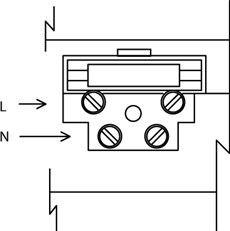 Schéma zapojenia napájania pohonu NICE Moonclever MCMC424L - fáza a nulák