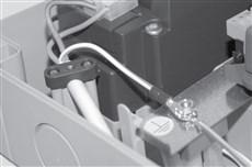 Zapojenie napájania pohonu NICE Moonclever MCMC424L - zem