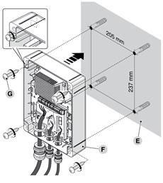 Montáž riadiacej centrály NICE MC424LR10