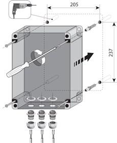 Montáž riadiacej centrály NICE MC424L