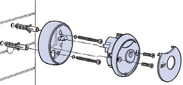 Montáž kľúčového spínaču pohonu NICE MoonKey MOSE