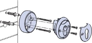 Montáž kľúčového spínaču pohonu NICE MoonKey MOSEU