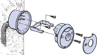 Montáž kľúčového spínaču pohonu NICE MoonKey MOSI