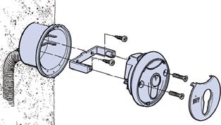 Montáž kľúčového spínaču pohonu NICE MoonKey MOSIU