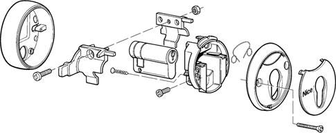 Montáž kľúčového spínaču pohonu NICE MoonKey MOSU