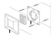 Montáž bezdrôtového tlačidla NiceWay do obalu NICE Opla
